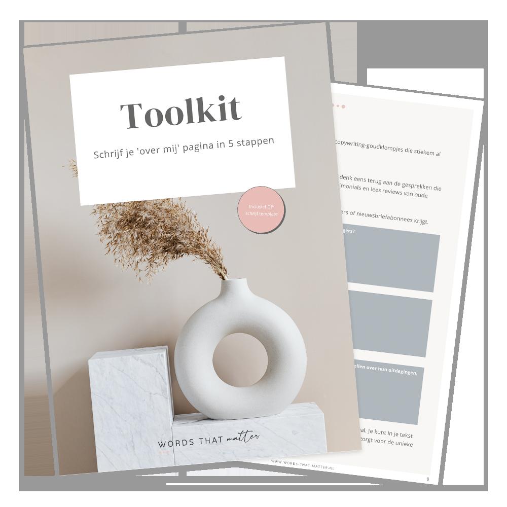 Gratis Toolkit - Schrijf je 'Over mij' pagina